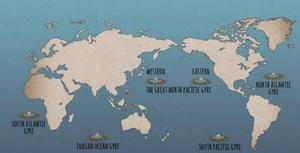 ¿Dónde están las islas de basura?