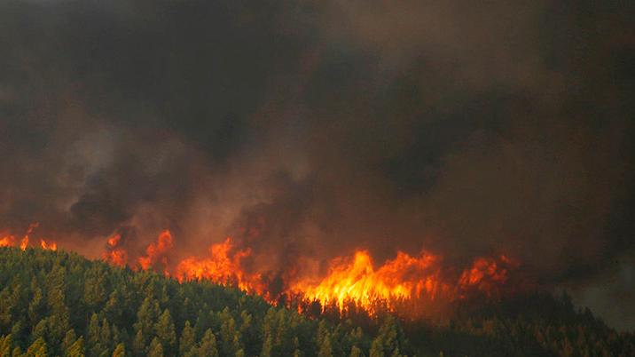 Incendios en Siberia, Las principales ciudades siberianas ahogadas por los fuertes incendios forestales