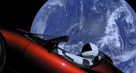 Automóvil Tesla enviado al espacio por Elon Musk