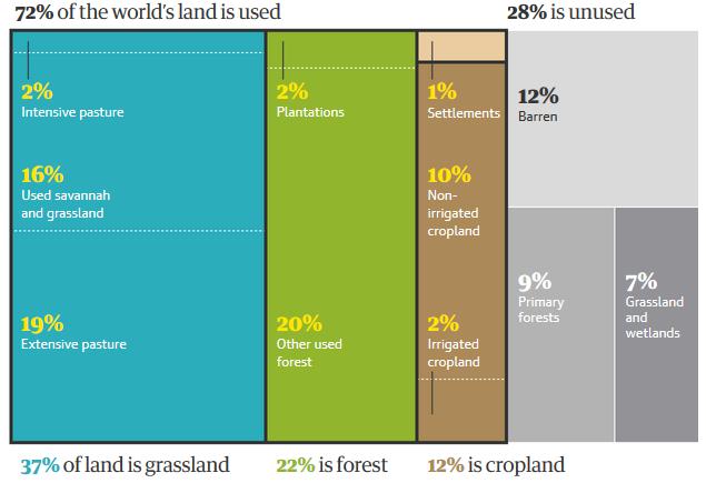 uso de la tierra por los humanos