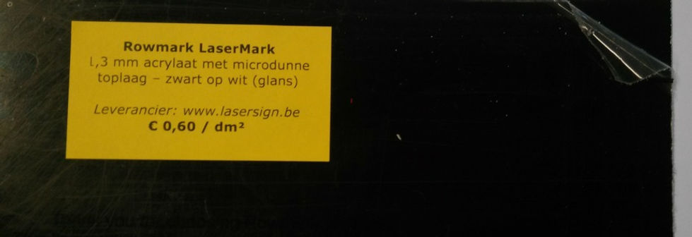 LaserMark 1,3 mm - zwart op wit (glans)
