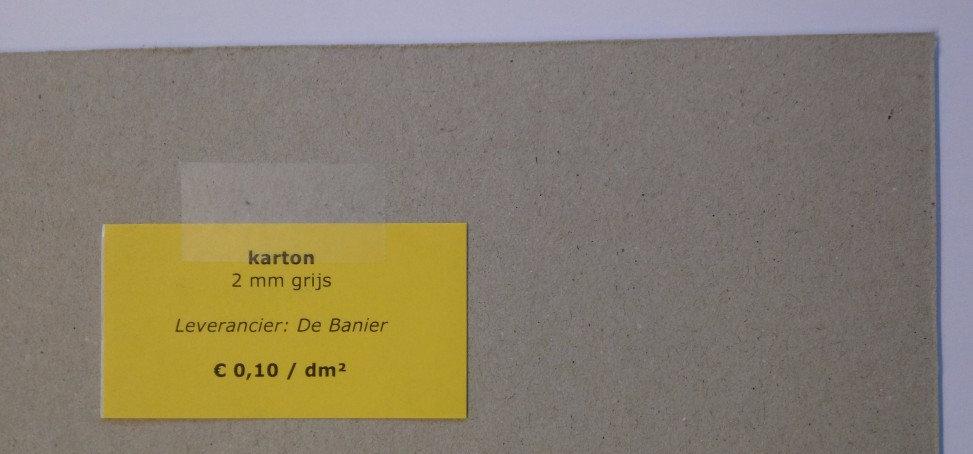 karton 2 mm - grijs