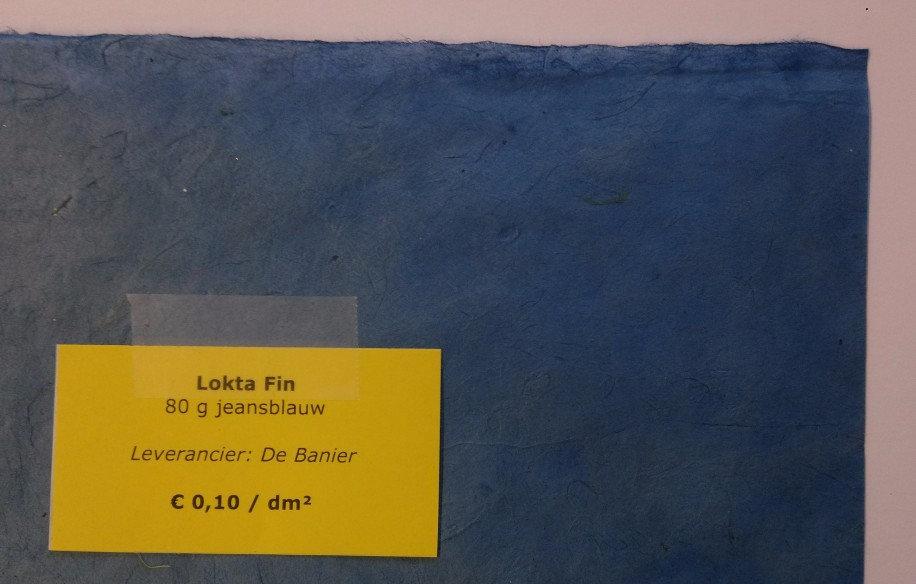 Lokta Fin 80 g - jeansblauw