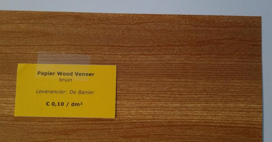papier Wood Veneer - bruin