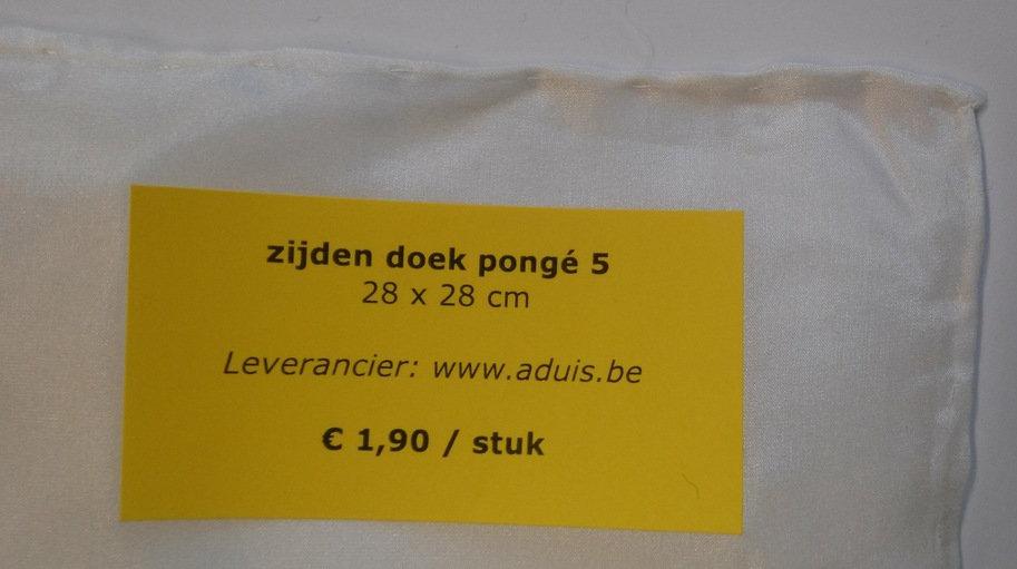 zijden doek pongé 5 - 28 x 28 cm