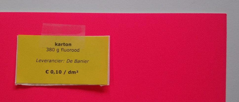 karton 380 g - fluorood (=roze)