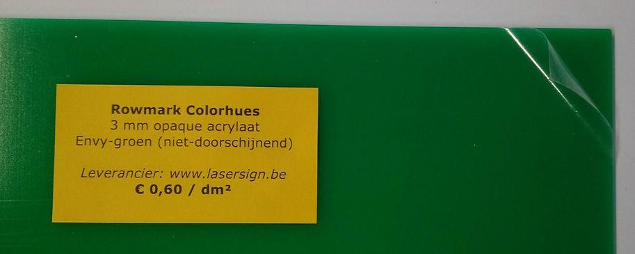 Colorhues 3 mm - Envy-groen (niet-doorschijnend)