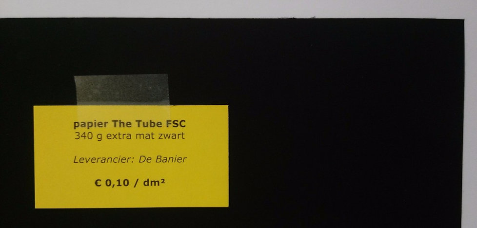 papier The Tube FSC 340 g - extra mat zwart