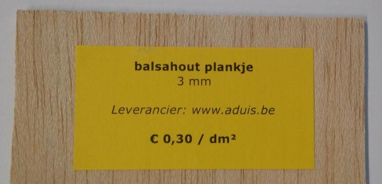 balsahout plankje 3 mm