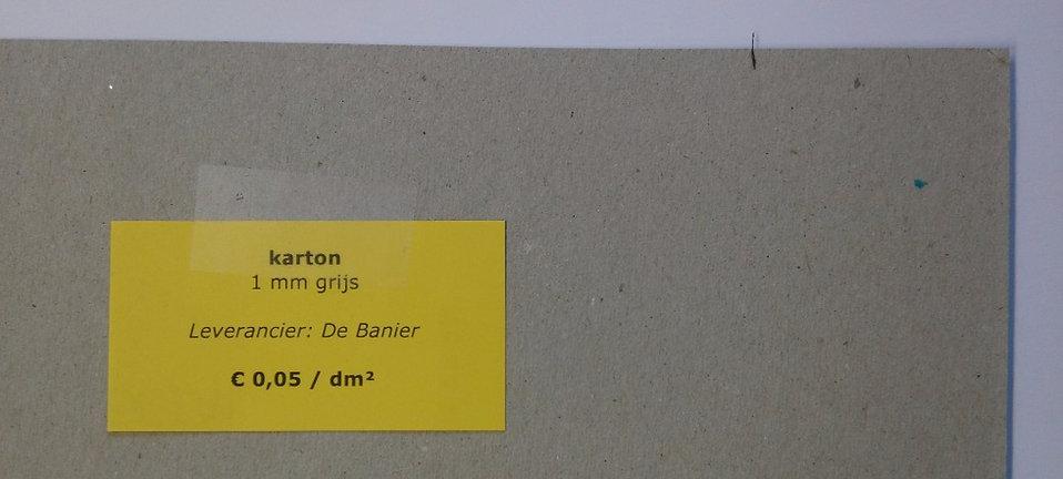 karton 1 mm - grijs