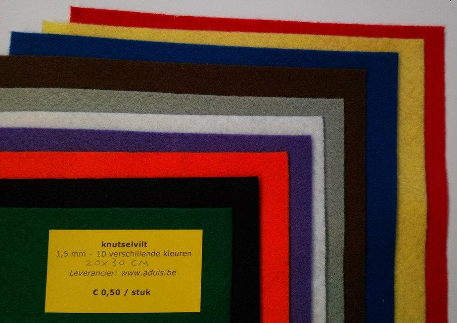 knutselvilt 1,5 mm - 10 kleuren
