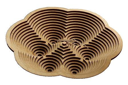 Laser-cut wood sculpture by Milan Ilnyckyj on Flickr (CC BY-NC-SA 2.0)