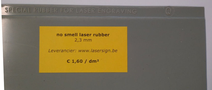 no smell laser rubber 2,3 mm