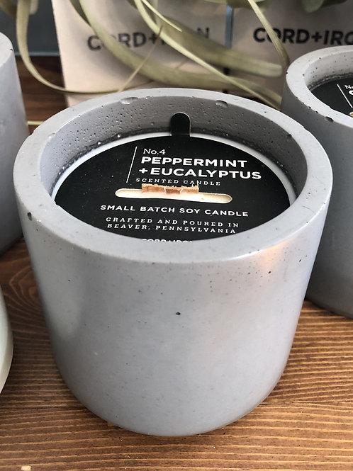 Cord + Iron Candle- Peppermint & Eucalyptus