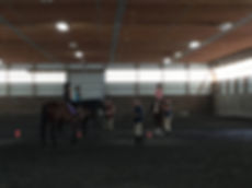 campers in a riding lesson