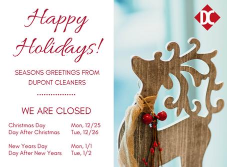 2017 Holiday Closings