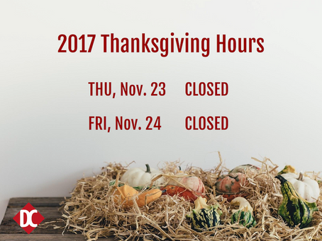 2017 Thanksgiving Hours
