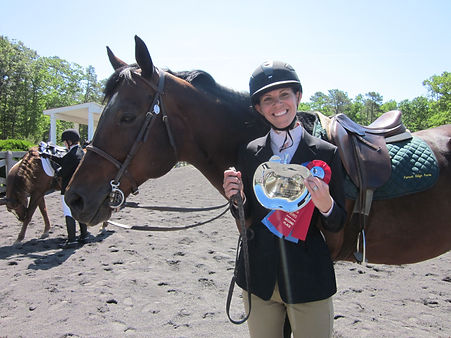 Horse show champion horse and rider