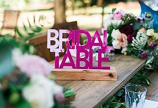 Timber table runners styled by _thedetai