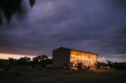 Sunset on wedding shed