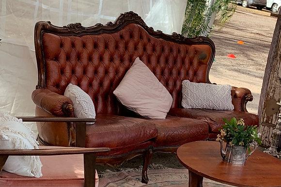 Italianette Leather 3 seat sofa.