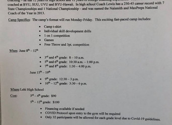 Quincy Lewis Summer Basketball Camp