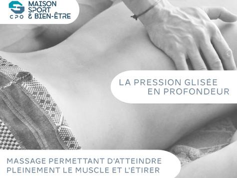 Les techniques de Massages : Pression glissée en profondeur