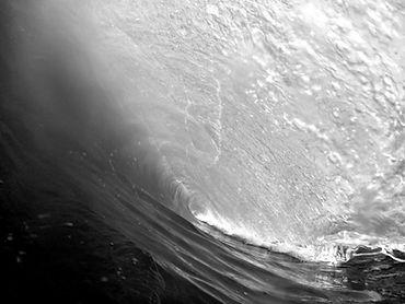 A l'intérieur d'une vague