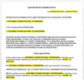 Contrato de compraventa  de bienes inmuebles