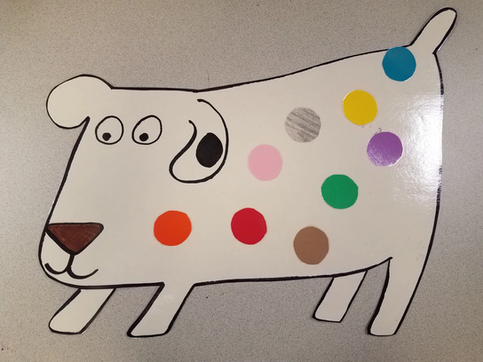 Dog's Colorful Day – Magnet Board
