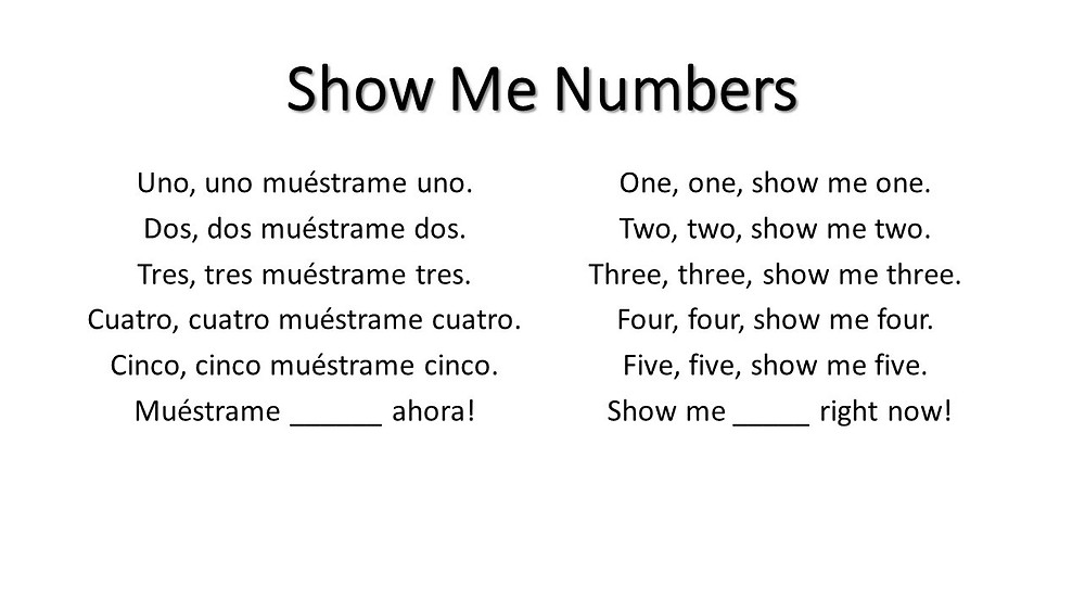 5-Show Me Numbers