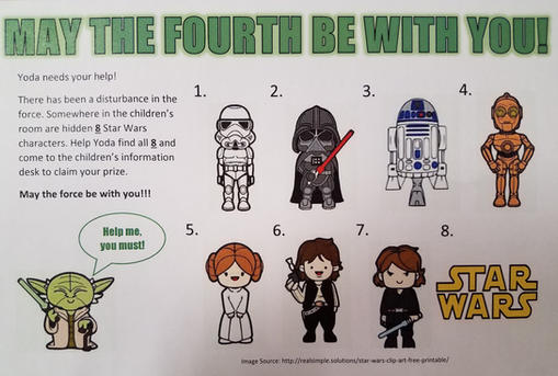 May The Fourth Be With You – Scavenger Hunt