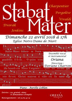 affiche concert Oriana avril 18