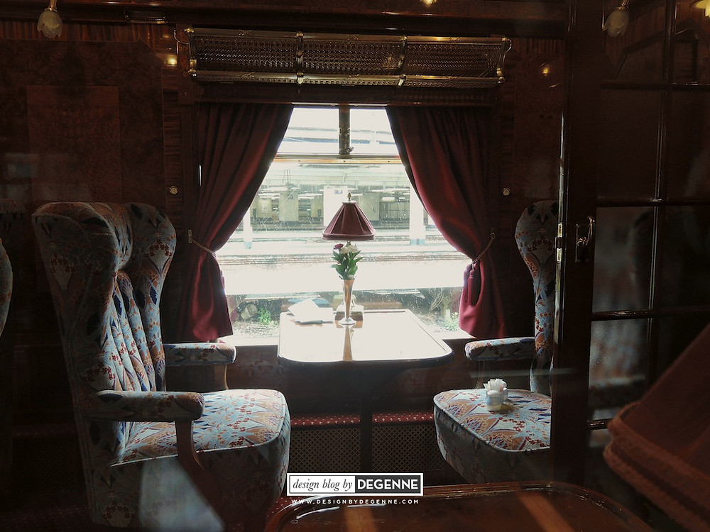 Interior of Belmond British Pullman
