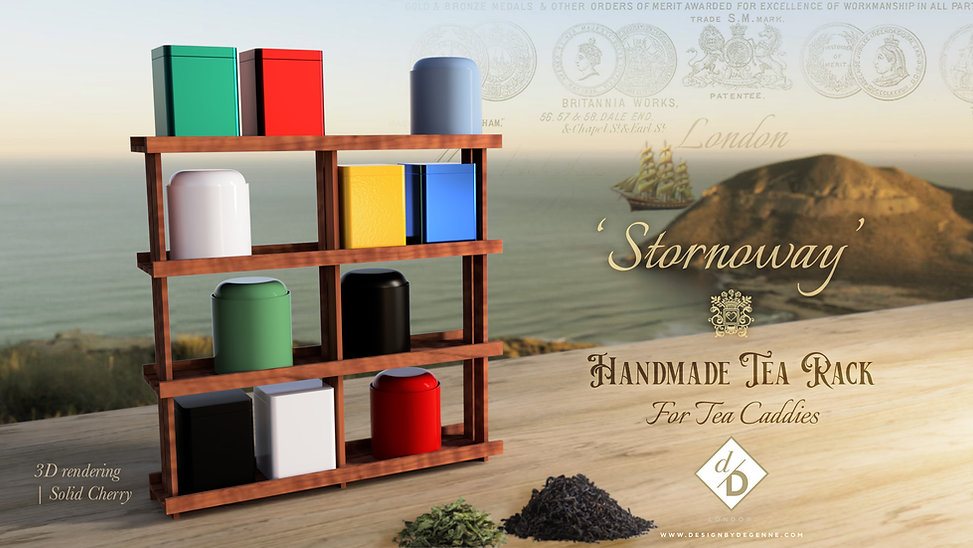 Stornoway tea rack_3D visual 2 cherry |
