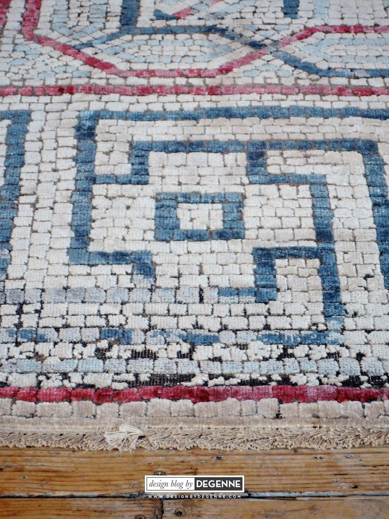 Dverill mosaic rug detail