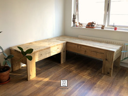 Reclaimed wood hippy bench