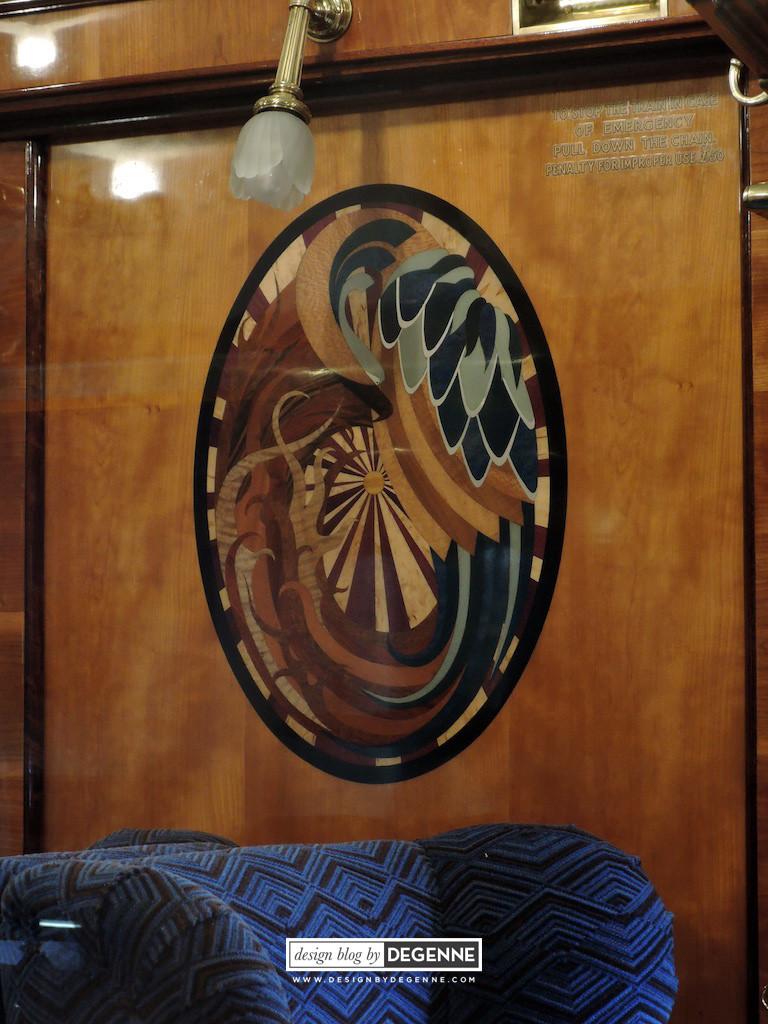 Marquetry decoration panel Belmond British Pullman