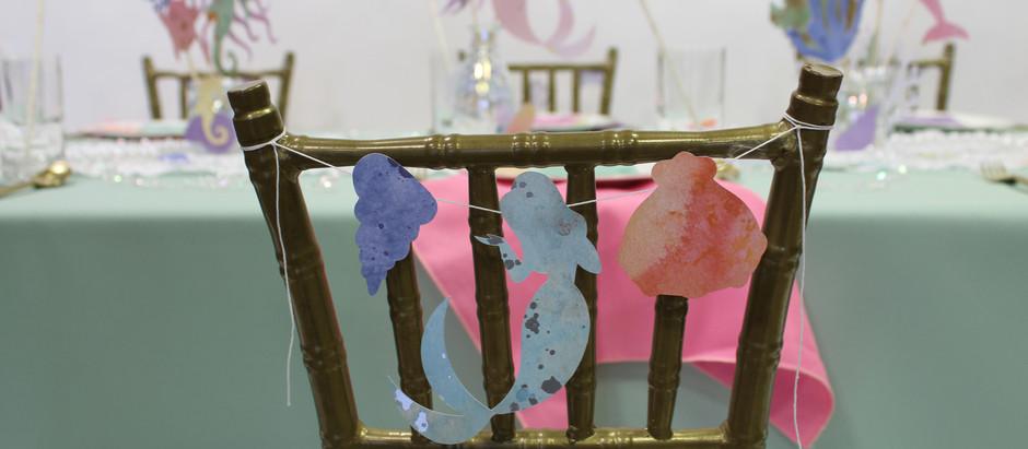 KID'S TABLE: WATERCOLOR MERMAID PARTY