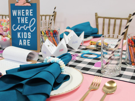 KID'S TABLE: COOL KID ACTIVITY TABLE