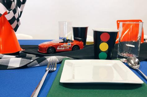 KID'S TABLE: RACE CAR PARTY