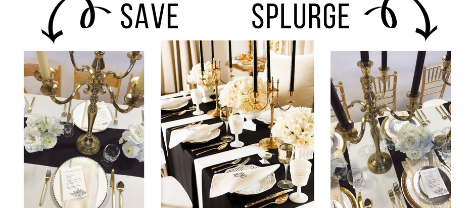 2 BUDGETS, 1 LOOK: BLACK, IVORY AND GOLD