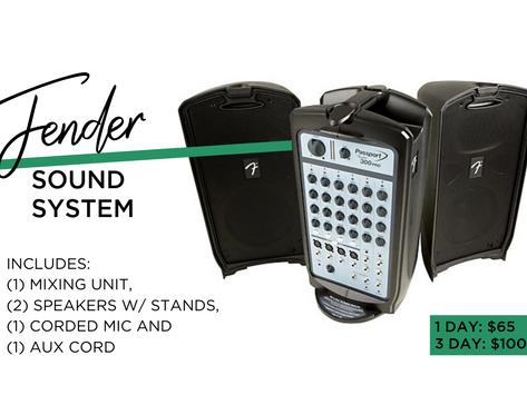 ITEM FEATURE: FENDER SOUND SYSTEM