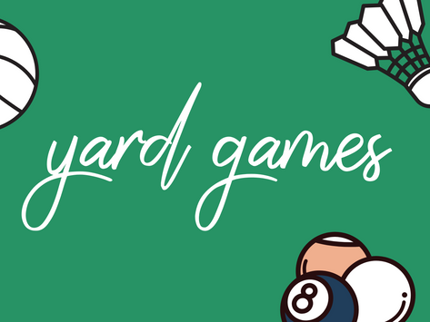 ITEM FEATURE: YARD GAMES