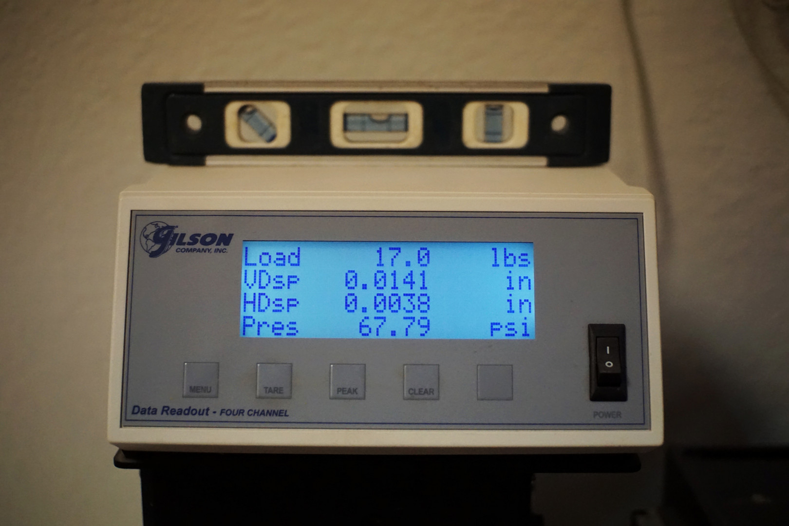 Data Readout for Direct Shear Testing