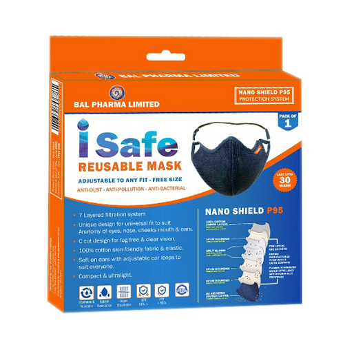Isafe Reusable Mask Rs 150/-