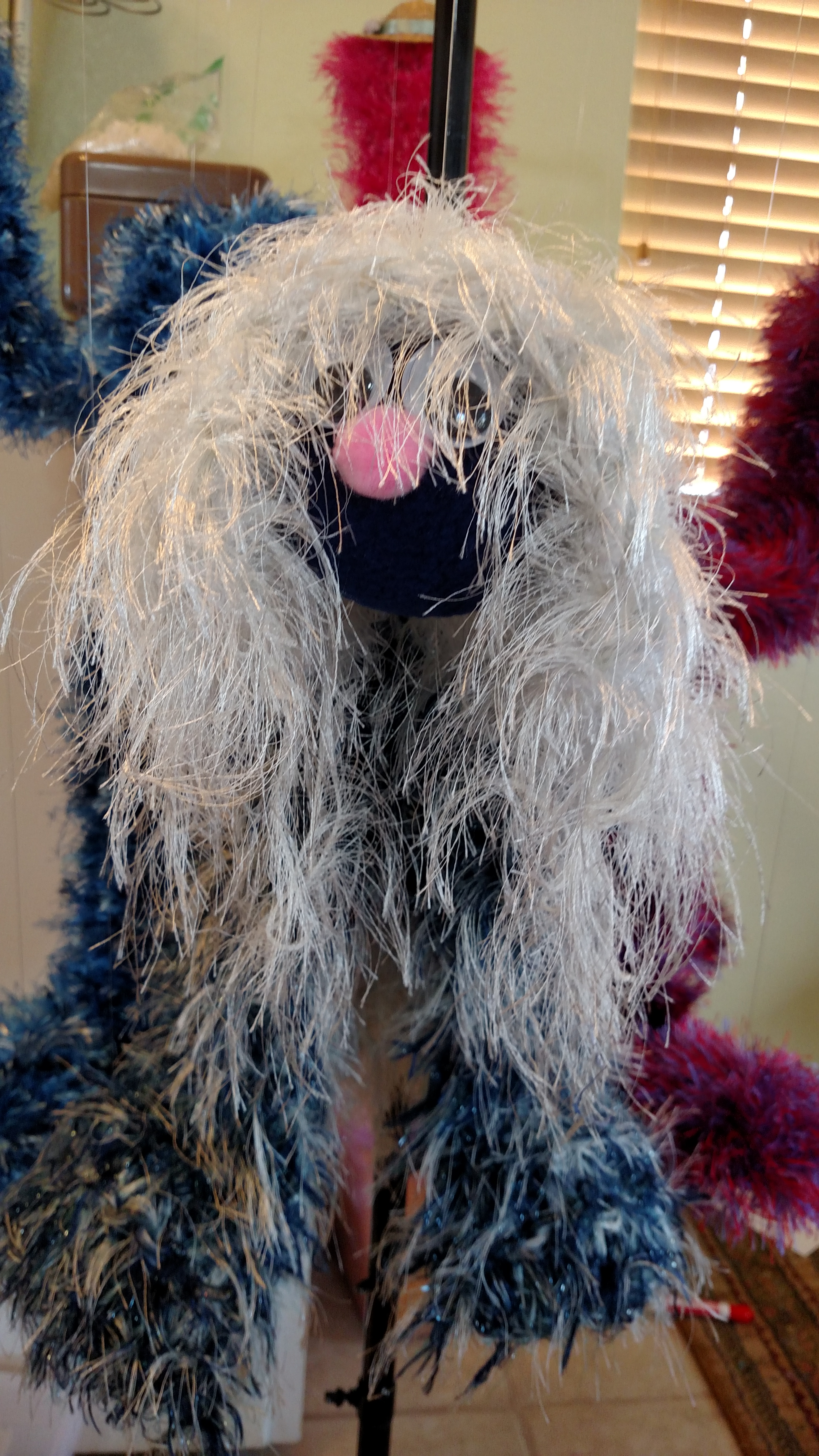 Two Legged Fuzzy Marionette Puppet