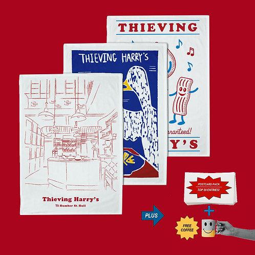Tea Towel Postcard Bundle