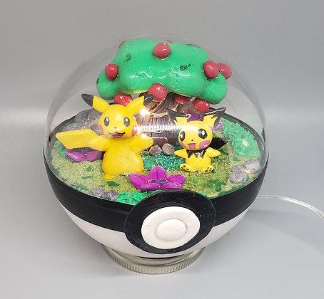 Pikachu and Pichu pokemon terrarium
