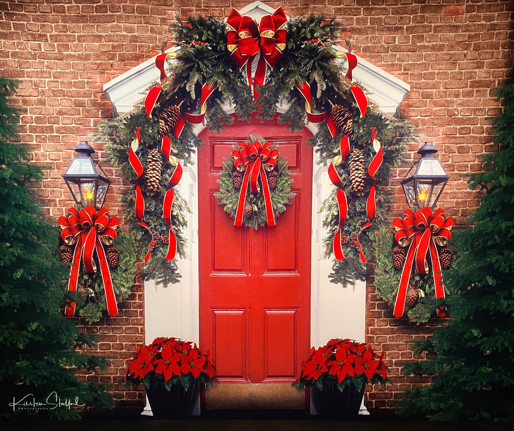 Red door Christmas Mini Session